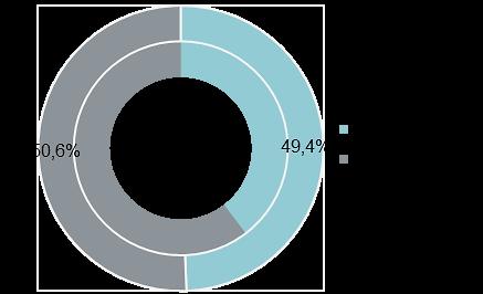 Структура предложения по классам (апартаменты, внешний круг — 4 кв. 2019 г., внутренний — 4 кв. 2018 г.)